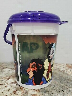 Disneyland Halloween Villains Annual Passholders Refillable Popcorn Bucket](Disneyland Halloween Villains)