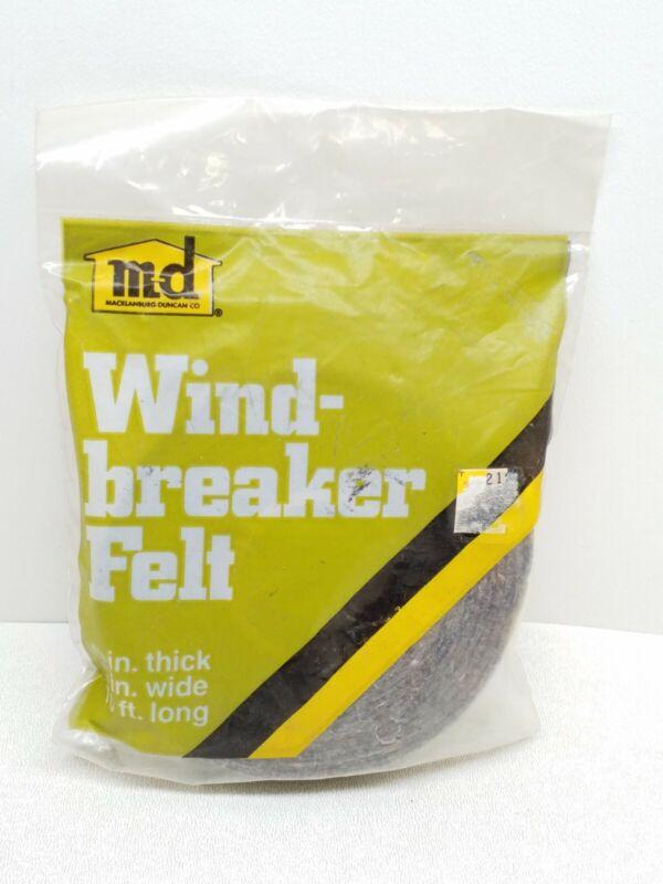 "Macklanburg-duncan Wind-breaker Felt 1/8""x3/4""x10"