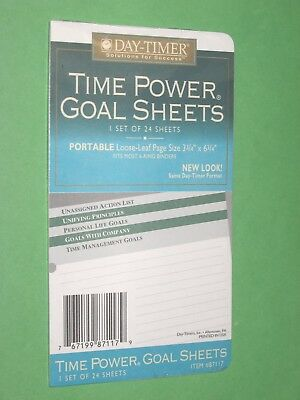 Portable 24 Lined Pages New Day Timer Planner Goal Sheets Franklin Covey Compact