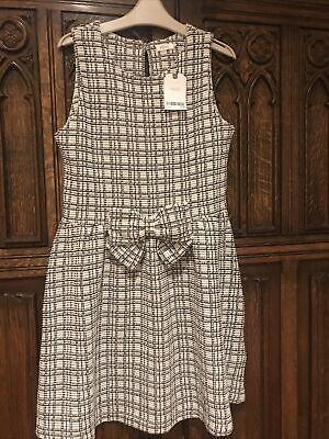 Girls Next Boucle Black White Mono Pinafore Dress Smart 11 Y BNWT...