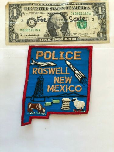 Roswell New Mexico Police Patch Un-sewn great condition