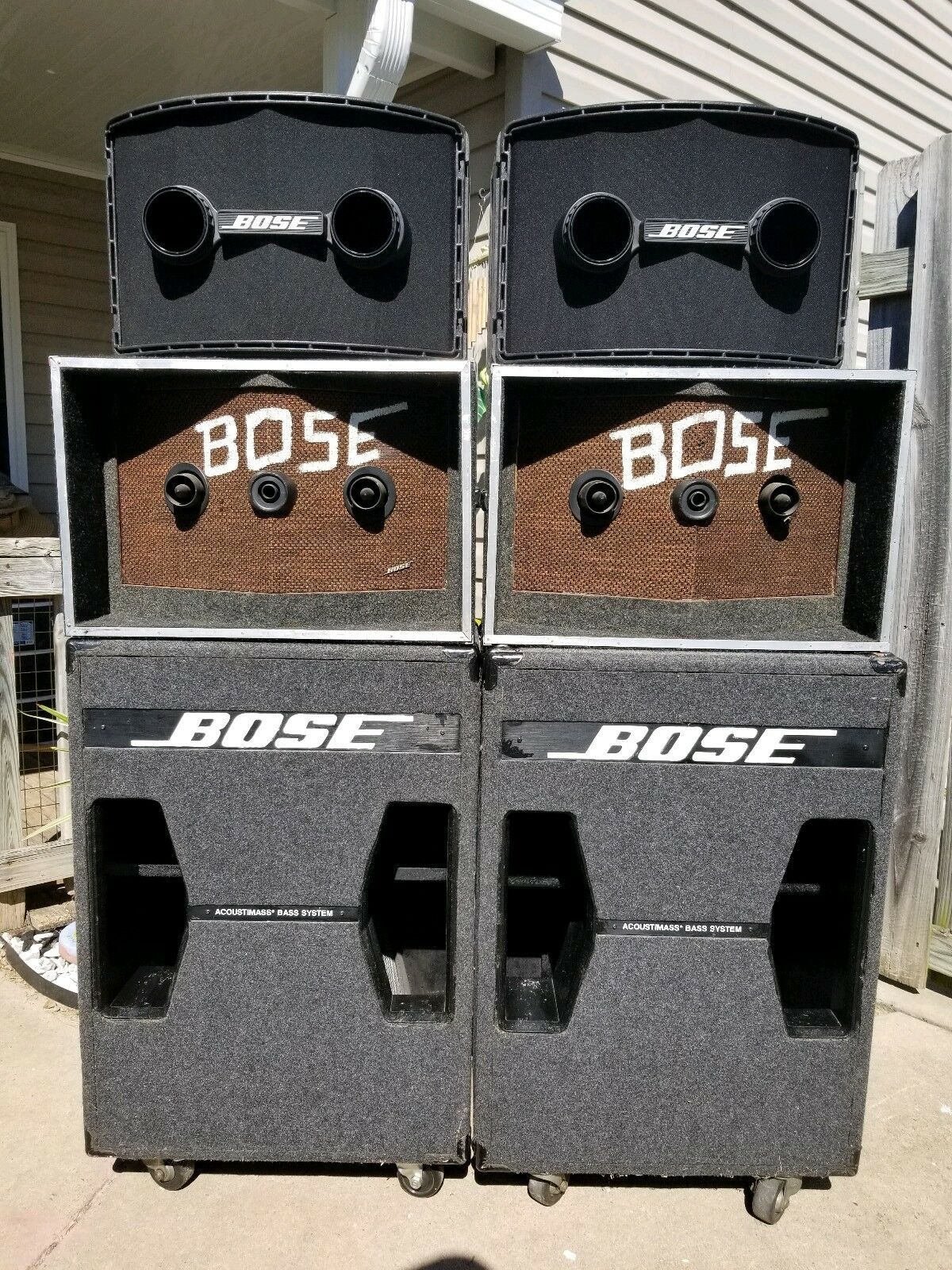 Photo Bose 802 Mk II and Bose 302 Acoustimass Bass Module speaker system With Bose 901