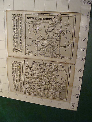 vintage Original New Hampshire small MAP, and info from 1850's or so