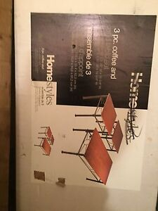 Homestyles 3 piece coffee and end table set