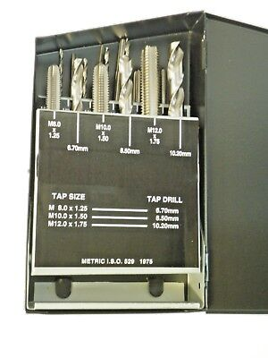 18 Pc. Tap Drill Set Metric 01-800-101 New