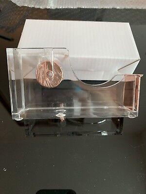 Acrylic Tape Dispenser Officehome Desktop Clearrose Gold