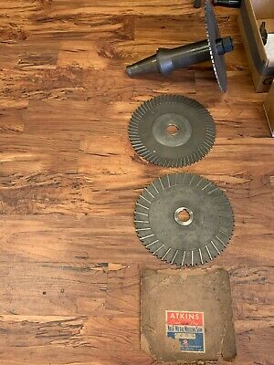 50ntmb Slitting Saw Arbor And Saw Lot - Item 1098
