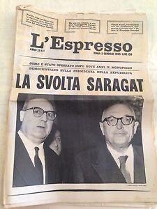 L-039-ESPRESSO-n-1-3-gennaio-1965-La-svolta-Saragat