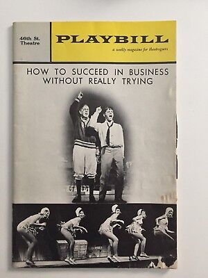 Vintage1963 Playbill How to Succeed in Business Without Really Trying Morse