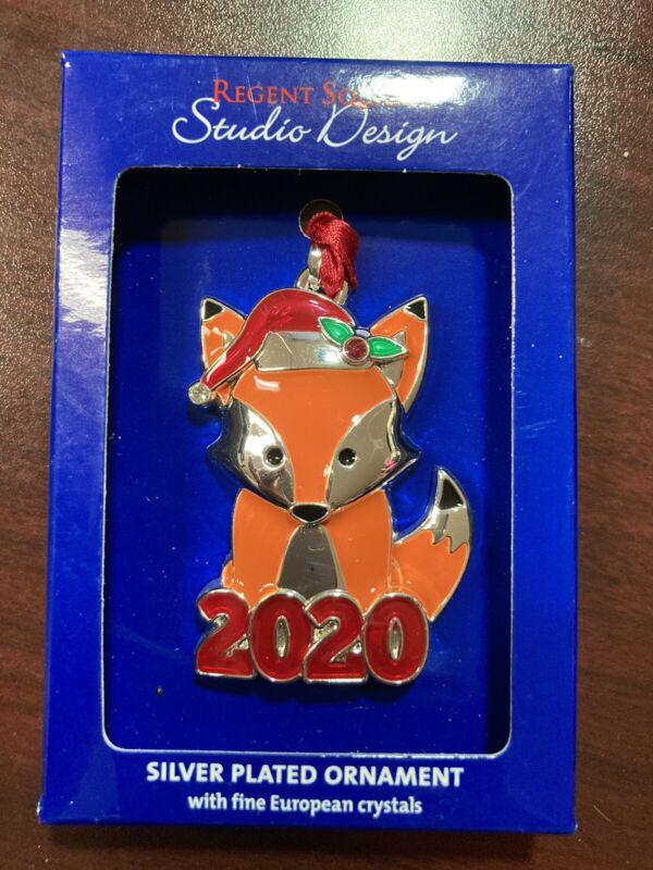 "2020 Christmas Ornament, Fox, 2"" x 1 1/2"", Regent Square, Studio Design"