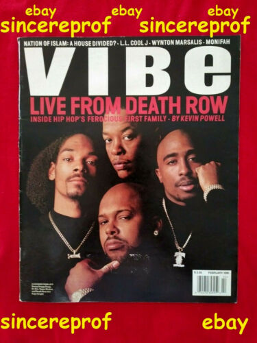 HOLY GRAIL 2-96 VIBE MAGAZINE DEATH ROW RECORDS SUGE KNIGHT TUPAC VINTAGE SNOOP
