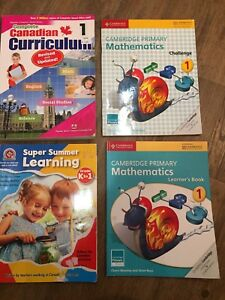 Grade One Math and Curriculum Books Set of 4