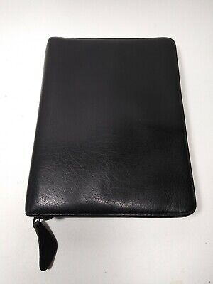 Franklin Covey Black Planner Binder Black Leather 7 Ring