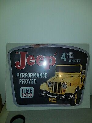 Jeep performance proved 4 Wheel Drive Metal Sign 20x16