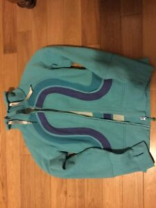 Lululemon hoodie size 6.  Light blue and purple trim.