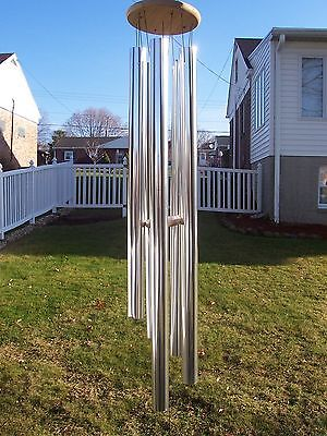 "AMAZING GRACE EXTRA LARGE WIND CHIMES 53"" DEEP NATURE'S ECHO WIND CHIME CHURCH"