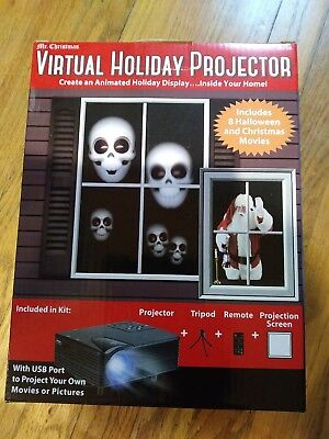 Animated Christmas /Halloween Window Display Mr. Christmas Virtual Projector kit](Halloween Window Displays)