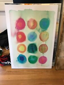 Abstract Bright Artwork Acrylic on Canvas