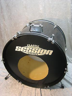 "22"" Bassdrum ""Session"" Trommel Schlagzeug Drumset Fantrommel Percussion schwarz"