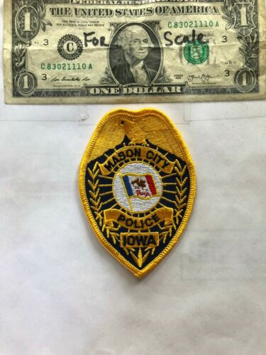 Rare Mason City Iowa Police Patch Un-sewn great shape