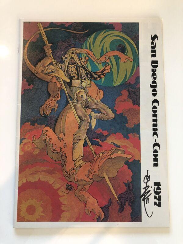1977 San Diego Comic Con Program SDCC Frank Frazetta JACK KIRBY Carl Barks