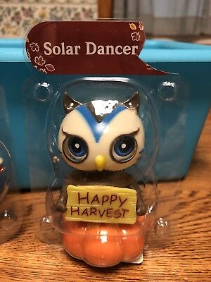 Solar Powered Dancing Toy Bobble Head FALL and THANKSGIVING - Owl ](Thanksgiving Toys)