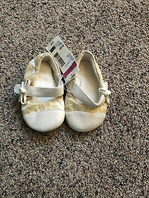 Toddler Infant Girls Little Wonders Shoes Size 2 Ivory  Flat with straps](Ivory Little Girl Dress Shoes)