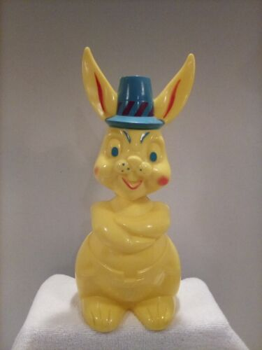 "Vintage Hard Plastic Tico Toys Large 12"" Bunny Bank"