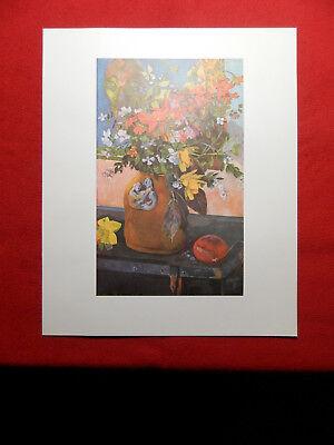 Paul Gauguin Stilleben mit Blumen / Nature morte et Fleurs    Kunstdruck 1960