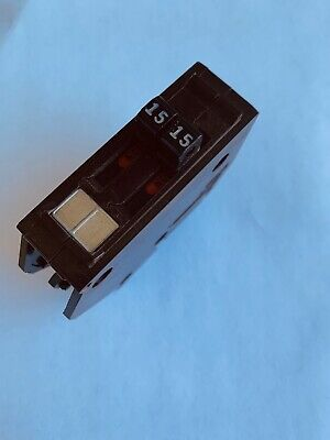 Wadsworth 1515 Amp Tandem Twin 2p 15a Circuit Breaker Tested