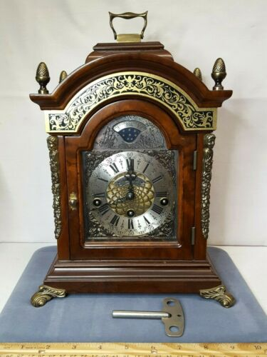 Vintage Wuba Warmink Moonphase 8-Day Mantle Clock