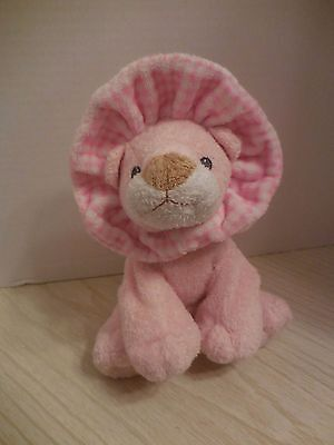 TY Pluffies GWOWLS the Pink LION Plush Lovey 2006 Love to Baby