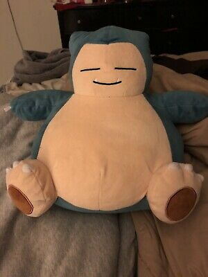 Tomy Pokemon 10-Inch Snorlax Plush Toy Blue Stuffed Animal