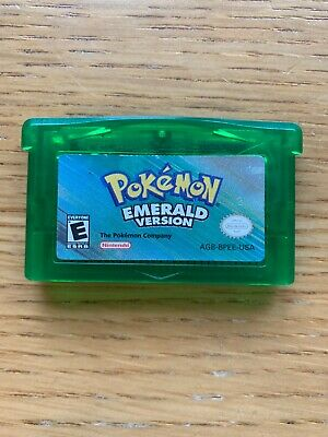 Authentic Pokemon Emerald Version Game Boy Advance - Tested: Saves, Dry Battery
