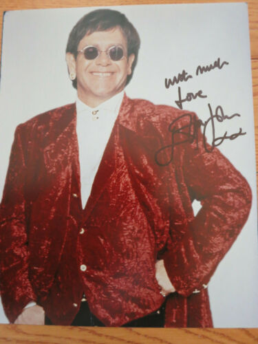 Elton John signed photo coa + Proof! Rocket Man autographed perfectly signed