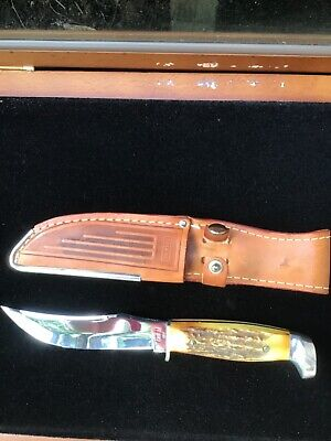 Vintage 1965-70 Case XX USA 523-5 Stag Fixed Blade Knife Knives