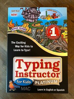 Typing Instructions For Kids Platinum English or Spanish for MAC CD