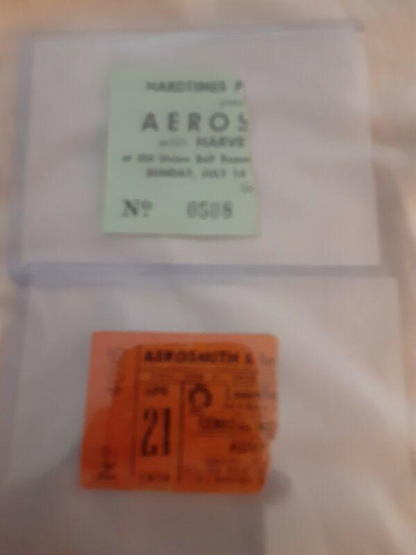 Aerosmith 10 Tickets 1970s RARE