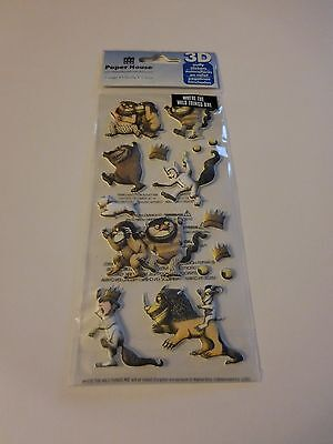 Scrapbooking Stickers Paper House Puffy Where The Wild Things Are Rumpus Max