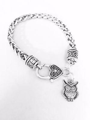 Owl Animal Bird Nature Mom Daughter Mother's Day Friend Gift Charm Bracelet