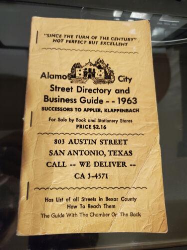 San Antonio Texas tx Alamo City Street Directory and Business Guide 1963