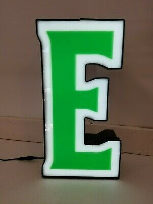 Letters Sign Channel Letter E Led Lights Signage Green And White