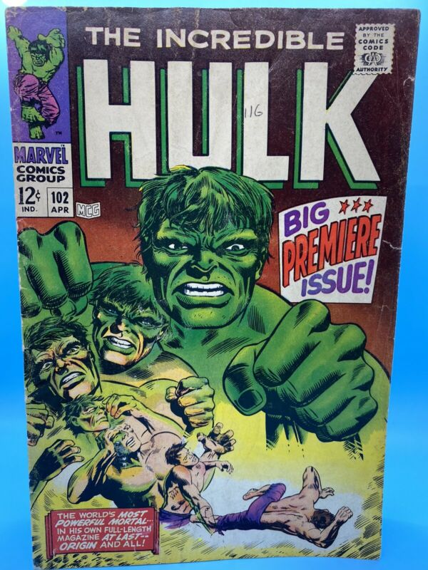 Incredible Hulk #102 - VG-; classic cover!!