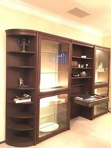 Buffet hutch display wall unit with folddown serving table Kangaroo Point Sutherland Area Preview