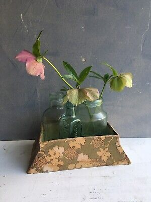 Vintage 1930's Floral Paper Covered Chocolate Box Art Deco