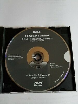 Dell Drivers and Utilities Reinstalling CD for Dell Vostro 200 computer software