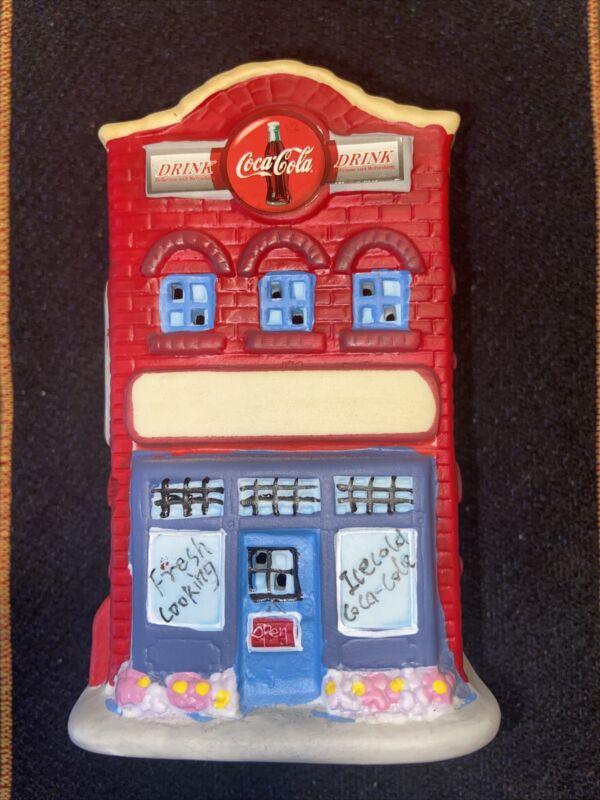 Vintage Ceramic Coca-Cola Coke Restaurant Tea light Candle Holder.