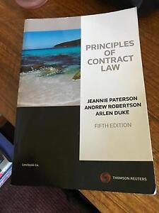 Principles of Contract Law Armidale Armidale City Preview