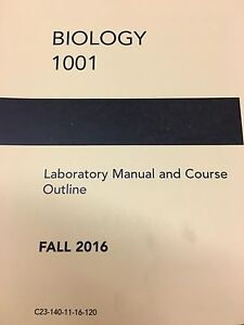 LOOKING FOR A USED BIO 1001 LAB MANUAL