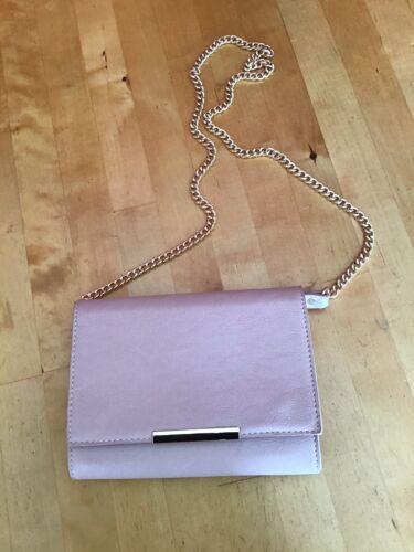 Damen Tasche Umhängetasche Clutch von Hallhuber puder rosa nude gold NEU